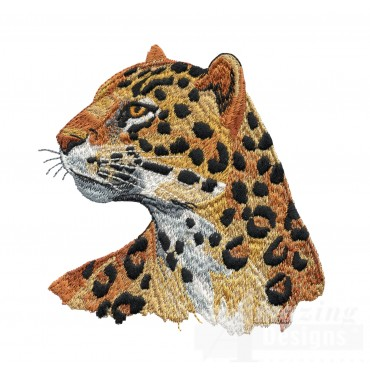 Leopard Head Serengeti Pride Embroidery Design