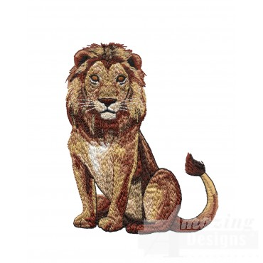 Lion Serengeti Pride Embroidery Design