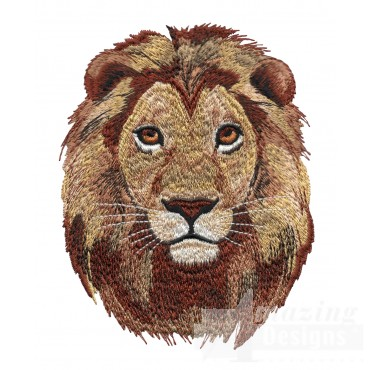 Lion Head Serengeti Pride Embroidery Design