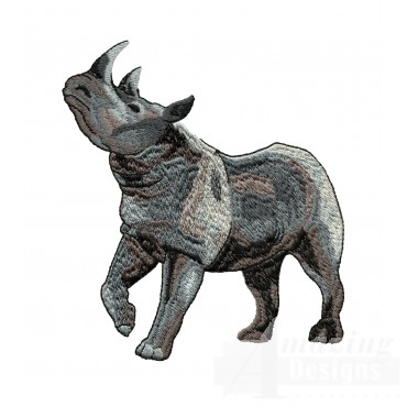 Rhinoceros Serengeti Pride Embroidery Design