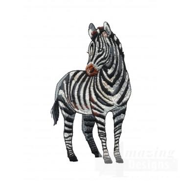 Zebra Serengeti Pride Embroidery Design