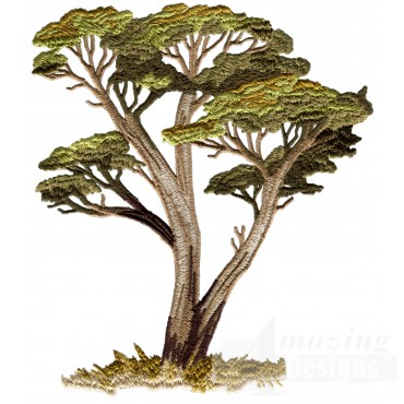 Acacia Tree Serengeti Pride Embroidery Design