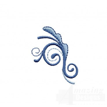 Fanciful Scroll Embroidery Design
