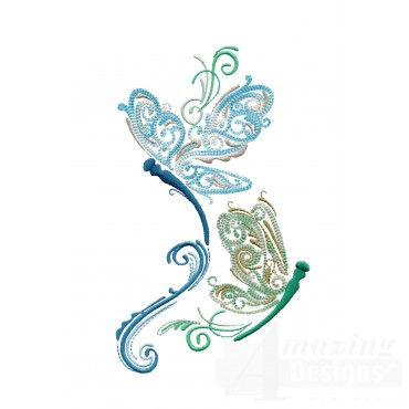 Fanciful Dragonflies Embroidery Design