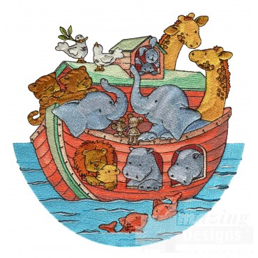 Noahs Ark Welcome Home Embroidery Design