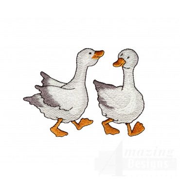 Geese Welcome Home Embroidery Design