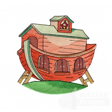 The Ark Welcome Home Embroidery Design
