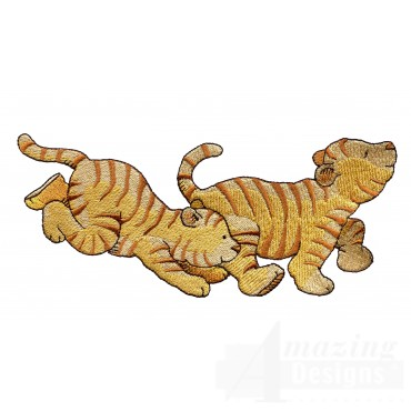 Two Tigers Welcome Home Embroidery Design