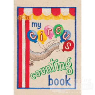 My Circus Counting Book Cover Embroidery Design