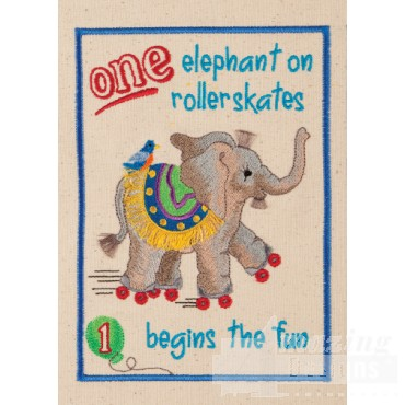One Elephant Circus Book Embroidery Design