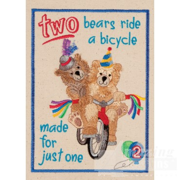 Two Bears My Circus Book Embroidery Design