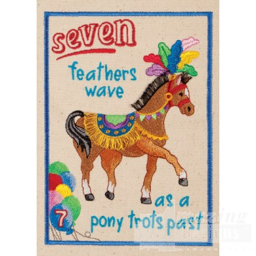 Seven Feathers My Circus Counting Book Embroidery Design