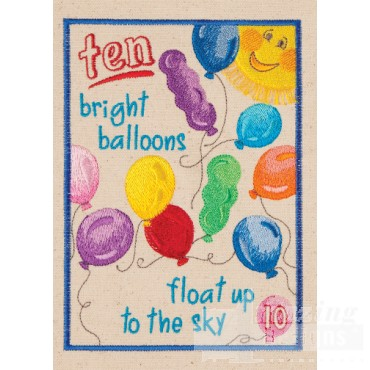 Ten Balloons My Circus Counting Book Embroidery Design