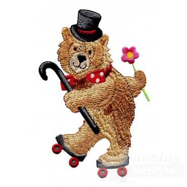 Roller Bear My Circus Book Embroidery Design