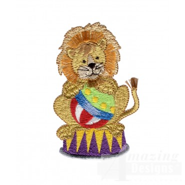 Lion And Ball My Circus Book Embroidery Design