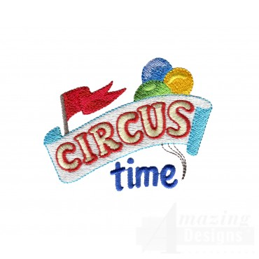 Circus Time My Circus Book Embroidery Design