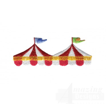 Tent Tops My Circus Book Embroidery Design