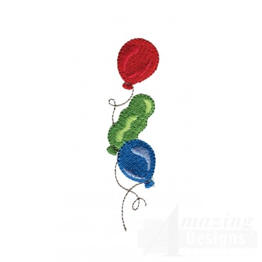 Loose Balloons My Circus Book Embroidery Design
