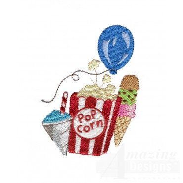 Snacks My Circus Counting Book Embroidery Design