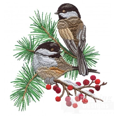 Swnss201 Chickadee Symphony Embroidery Design