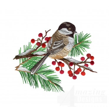 Swnss204 Chickadee Symphony Embroidery Design