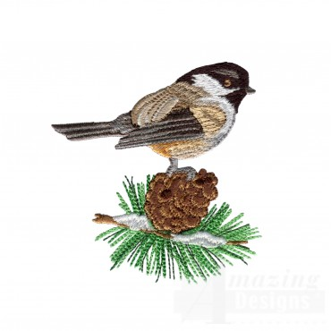 Swnss206 Chickadee Symphony Embroidery Design