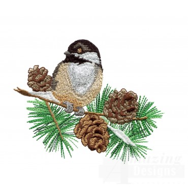 Swnss208 Chickadee Symphony Embroidery Design