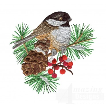 Swnss210 Chickadee Symphony Embroidery Design
