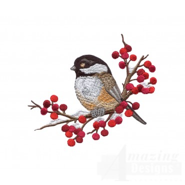Swnss211 Chickadee Symphony Embroidery Design