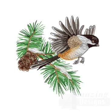 Swnss212 Chickadee Symphony Embroidery Design