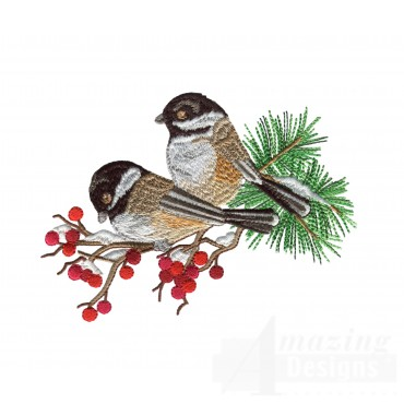 Swnss215 Chickadee Symphony Embroidery Design