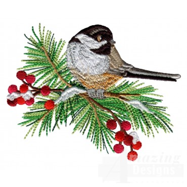Swnss217 Chickadee Symphony Embroidery Design