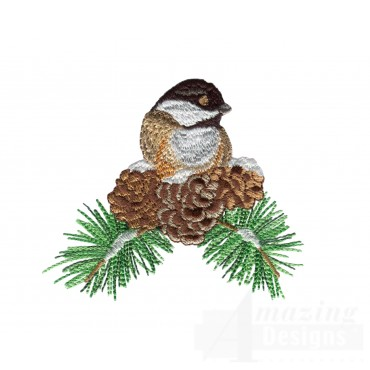 Swnss218 Chickadee Symphony Embroidery Design