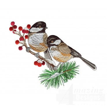 Swnss223 Chickadee Symphony Embroidery Design
