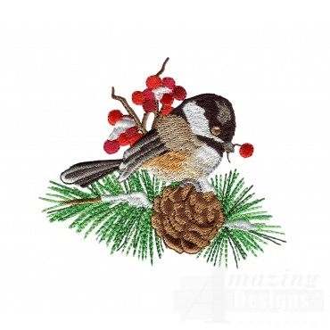 Swnss224 Chickadee Symphony Embroidery Design