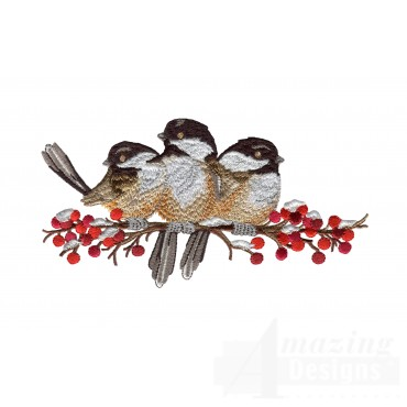 Swnss225 Chickadee Symphony Embroidery Design