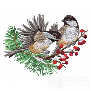 Swnss226 Chickadee Symphony Embroidery Design