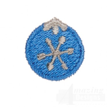 Blue Ornament Advent Christmas Tree Design