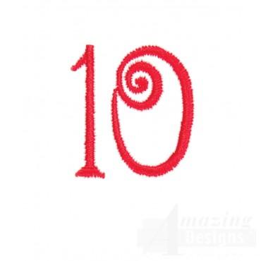 Number 10 Advent Christmas Tree Design