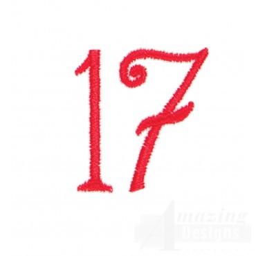 Number 17 Advent Christmas Tree Design