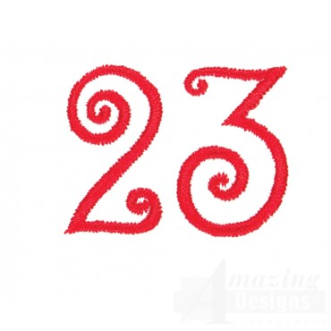 Number 23 Advent Christmas Tree Design