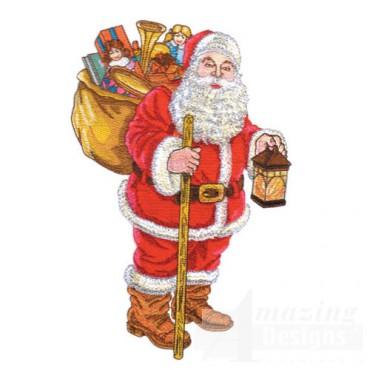 Santa W/lantern