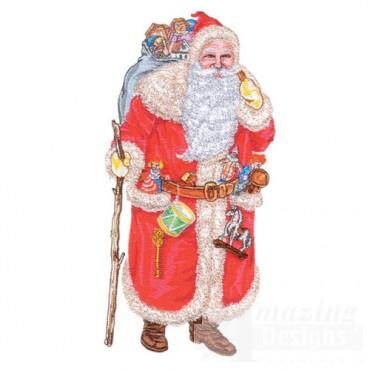 Santa W/walking Stick
