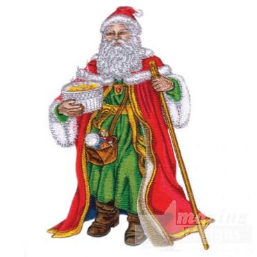 Santa W/staff