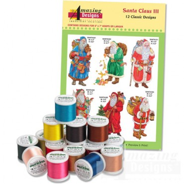 Santa Claus III with 18 Spools of Madeira Thread