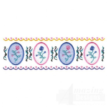 Petite Floral Oval Border