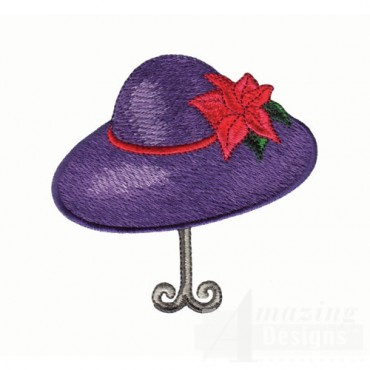 Purple Hat on Stand