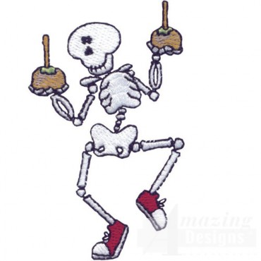 Skeleton With Candy Apples