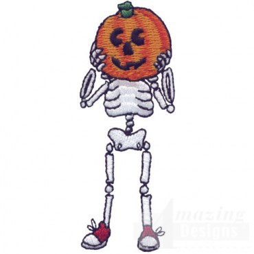 Pumpkin Head Skeleton