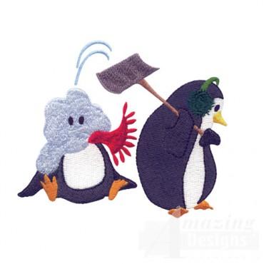 Shoveling Penguin